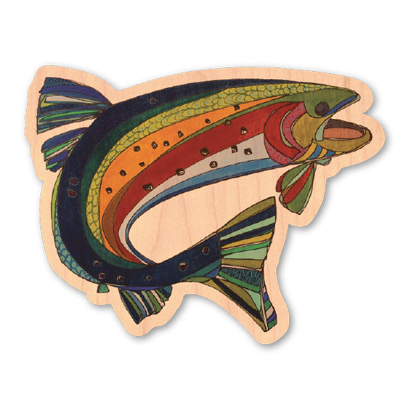 Katherine Homes Colorado Greenback Cutthroat Trout Wood Sticker