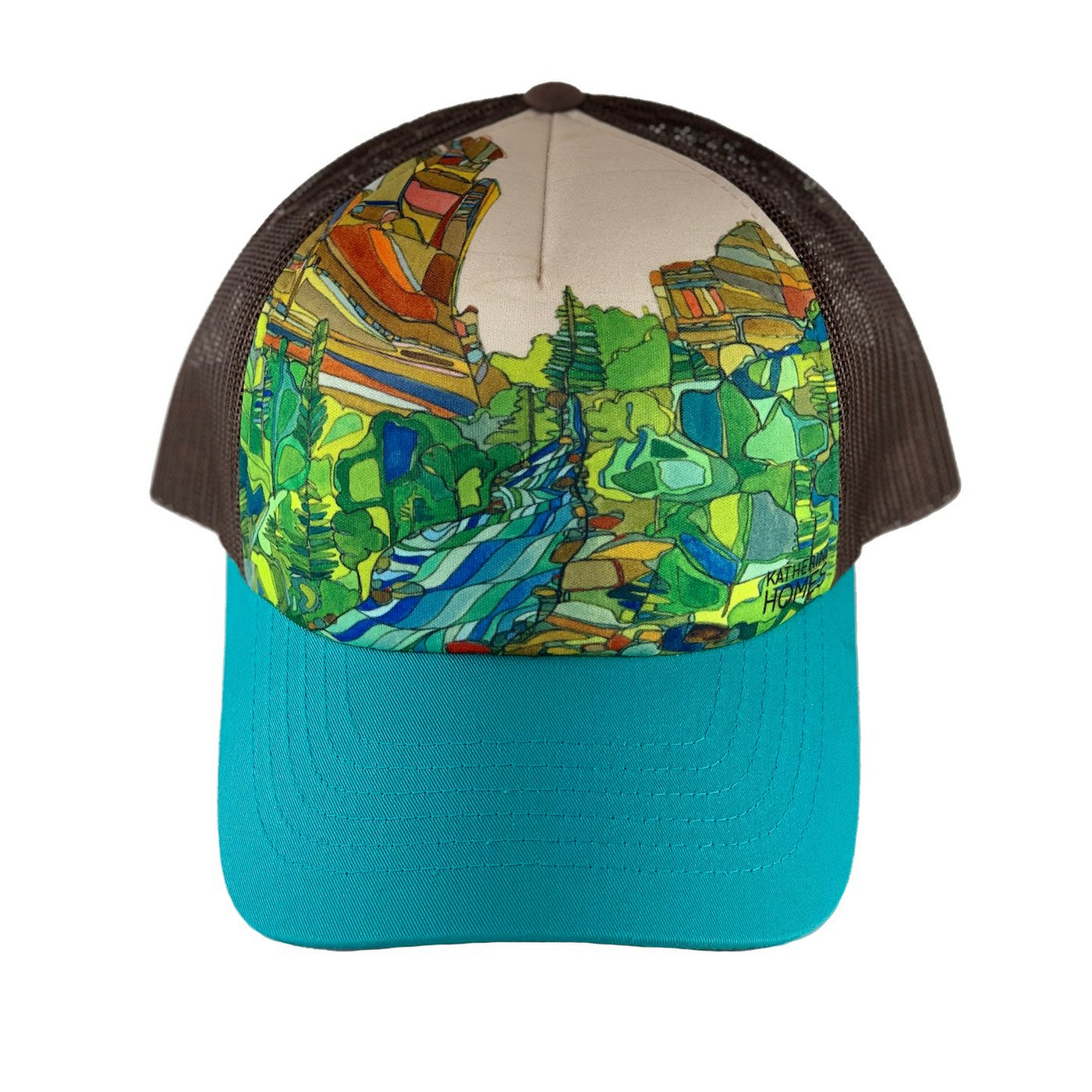Katherine Homes Eldorado Canyon Trucker Hat | Turquoise and Brown
