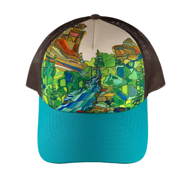 Eldorado Canyon | Foam Sublimation Baseball Hat | Turquoise | Brown Mesh