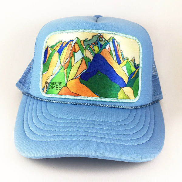 Katherine Homes Teton National Park Youth Trucker Hat | Baby Blue