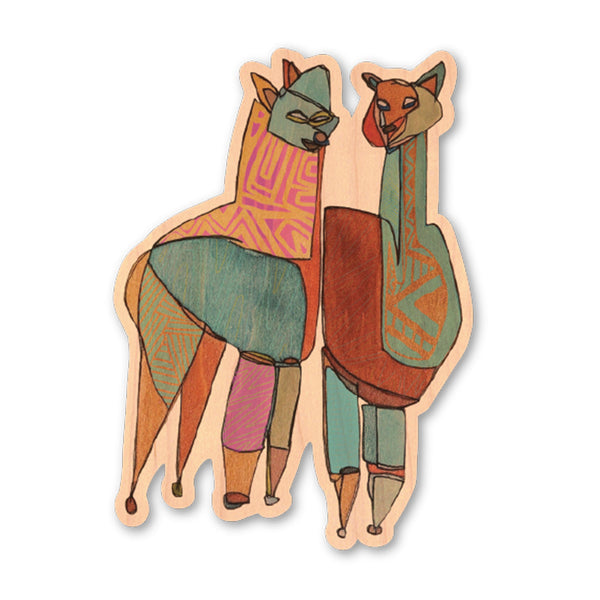 Guanacos | Wood Sticker