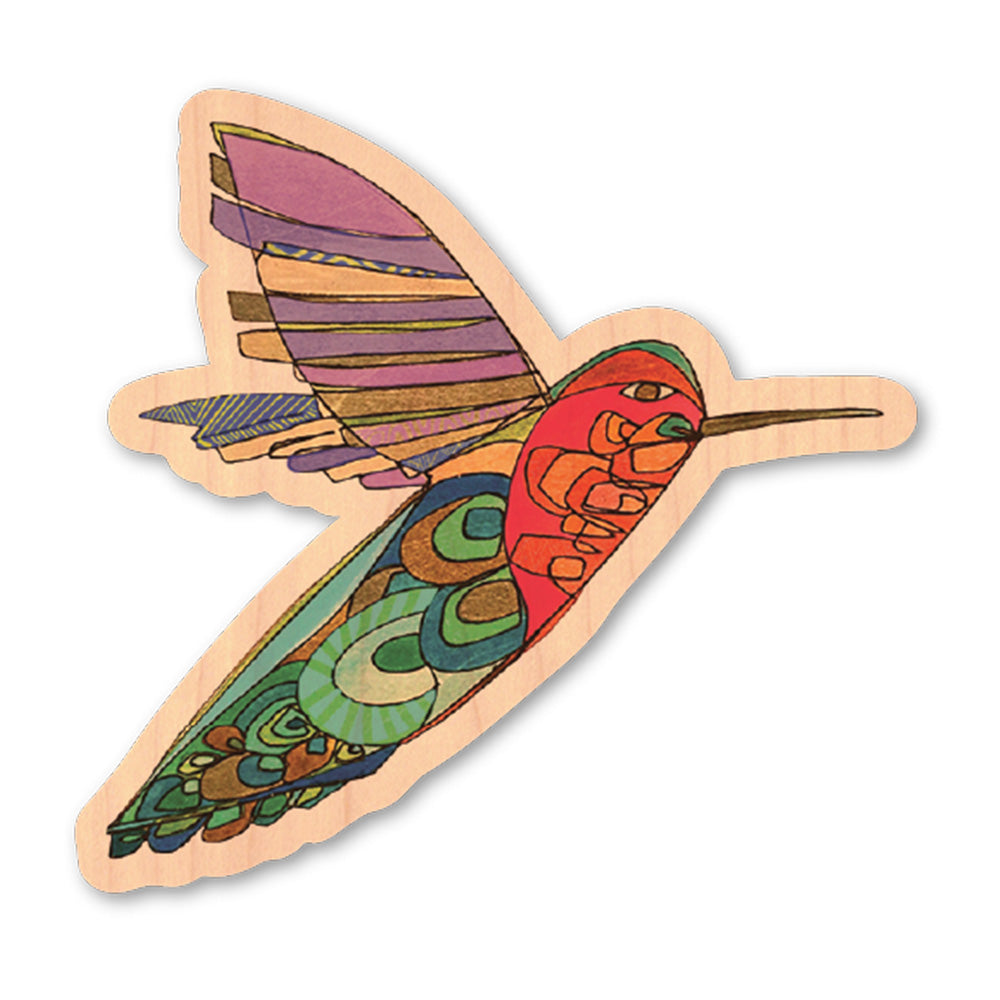 Katherine Homes Hummingbird Wood Sticker