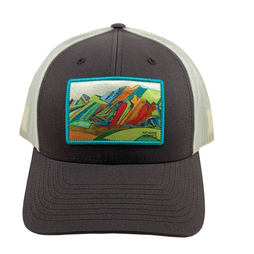 Boulder Flatirons Baseball Hat | Brown and Natural