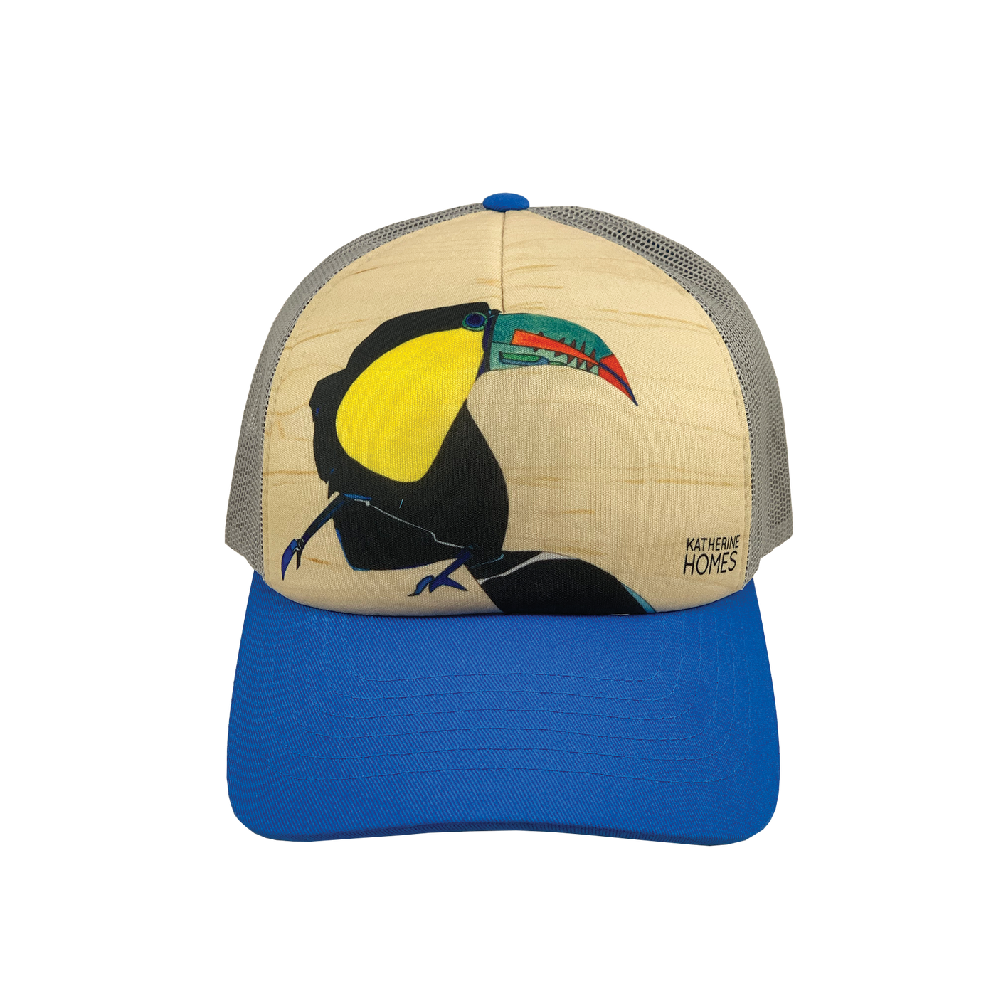 Toucan | Small Foam Trucker Hat | Blue and Grey