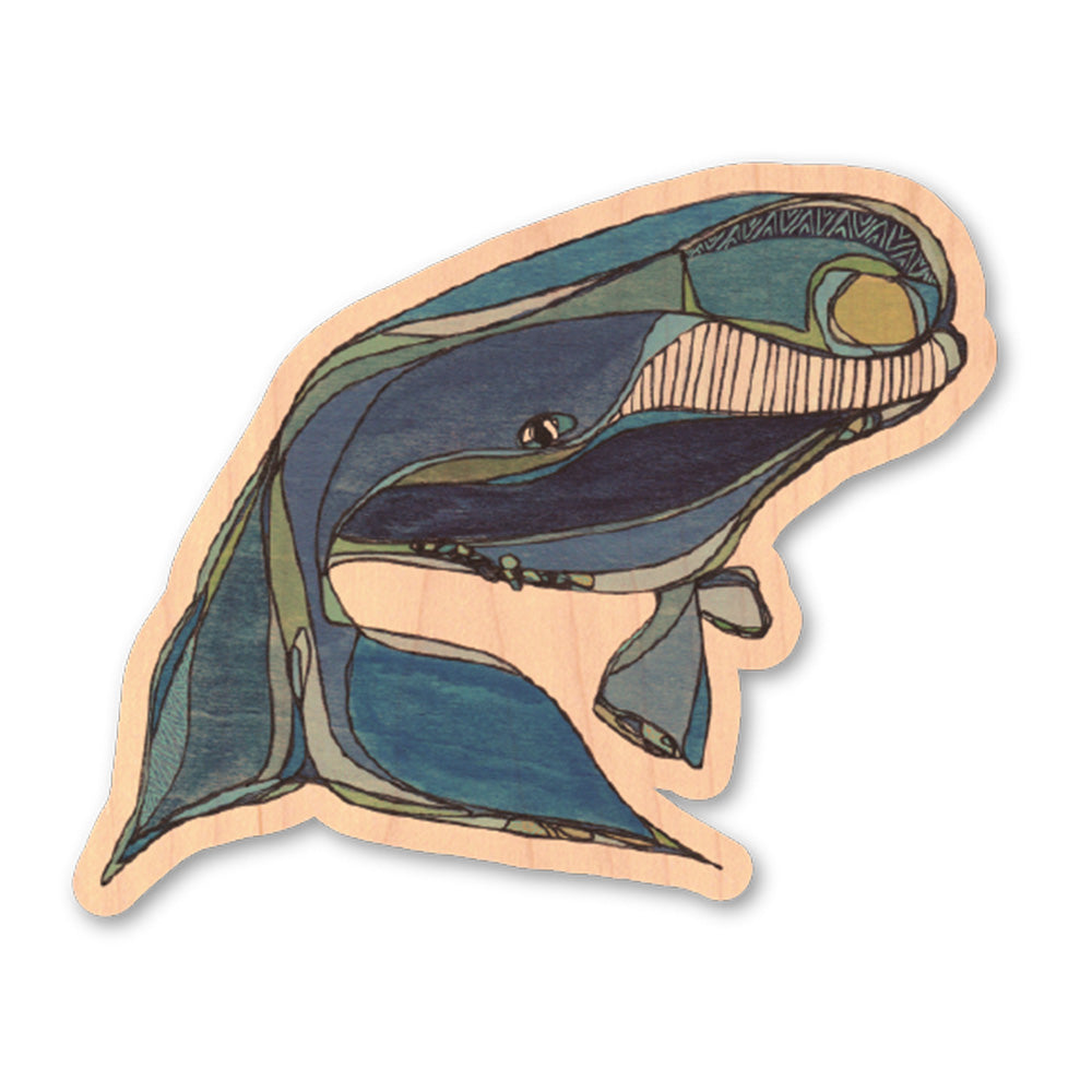 North Atlantic Right Whale | Wood Sticker