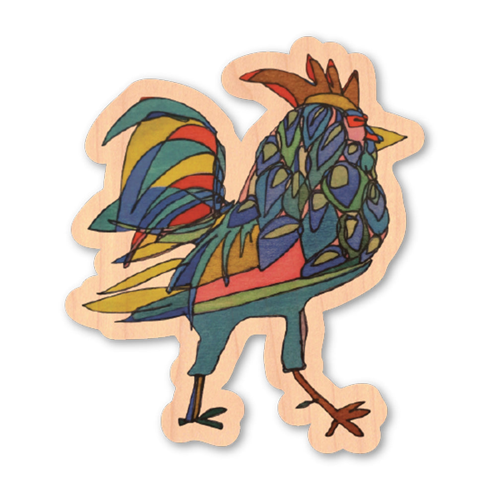 Katherine Homes Rooster Wood Sticker