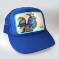 Rooster | Original Small Foam Trucker Hat | Royal Blue | Royal Blue Mesh