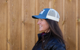 Colorado Greenback Cutthroat Trout | Baseball Style Trucker Hat | Indigo | Natural