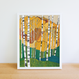 Aspen Trees Print by Katherine Homes