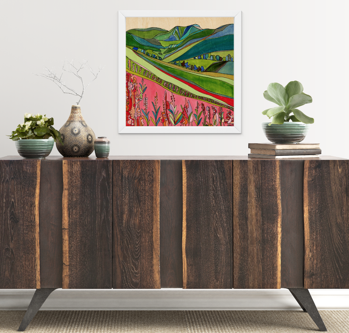 Crested Butte Wildflowers Print by Katherine Homes