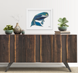 Katherine Homes North Atlantic Right Whale Print