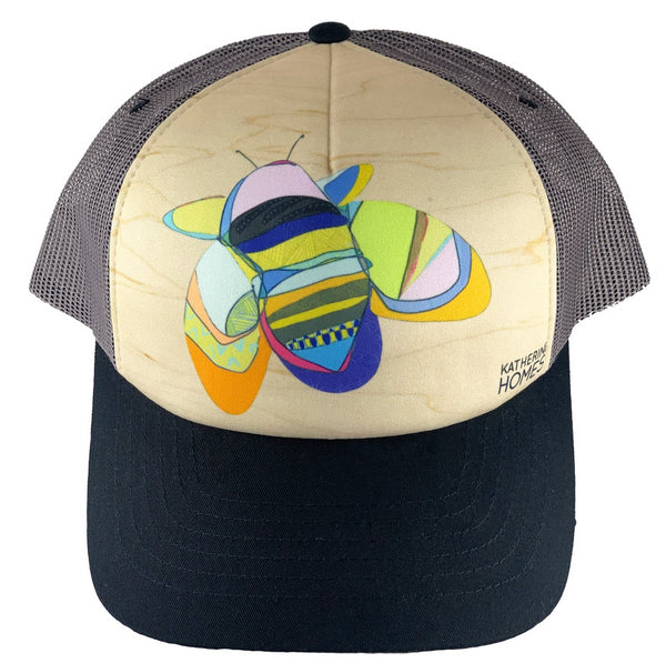 Rusty Patched Bumble Bee | Foam Sublimation Baseball Hat | Black | Grey Mesh