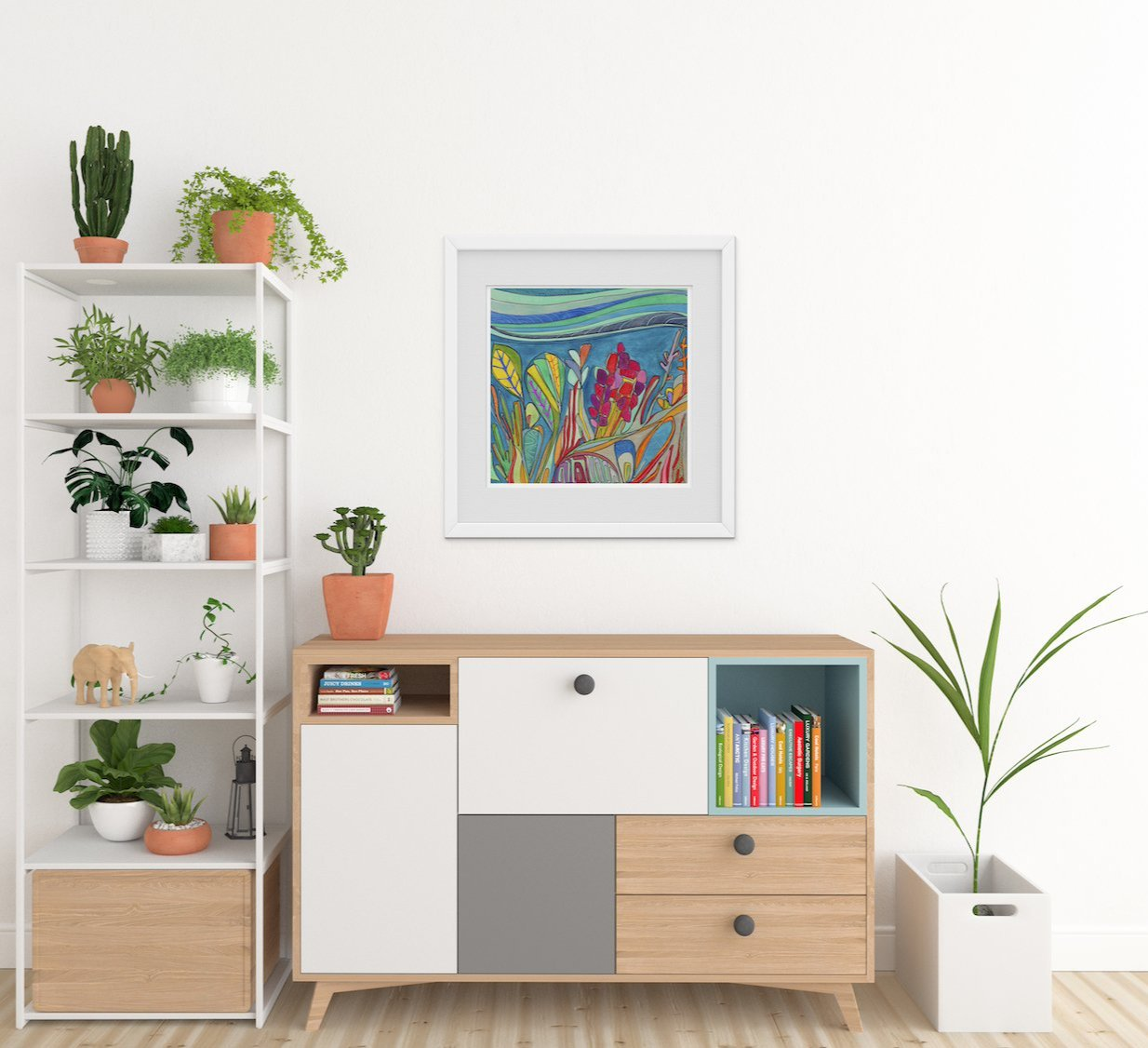 Katherine Homes original design Coral Reef Print