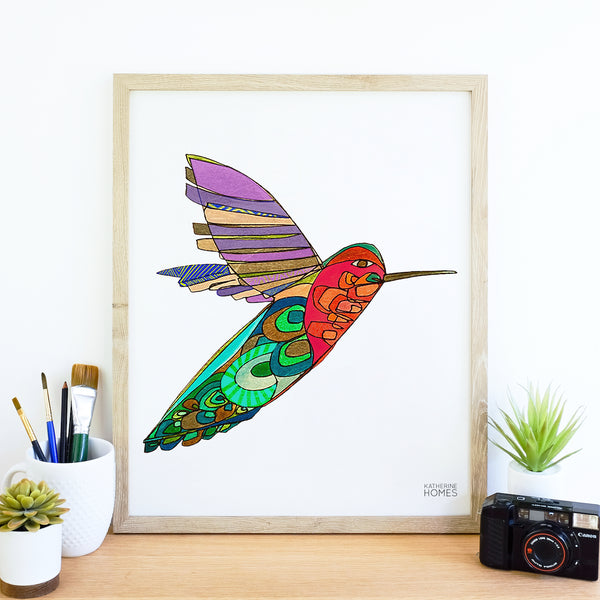 Katherine Homes Hummingbird Print