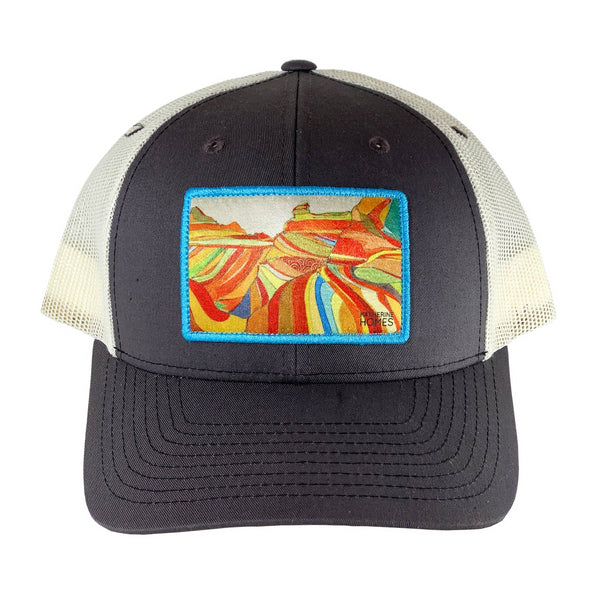 Katherine Homes The Wave, Arizona Baseball Hat | Grey and Natural