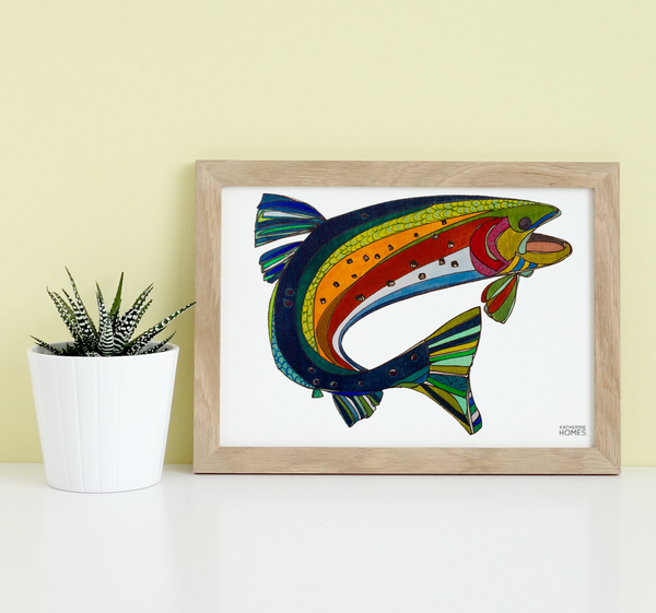 Colorado Greenback Cutthroat Trout original design by Katherine Homes | Print