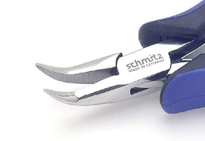 Snipe Nose Pliers 5.1/4'' | schmitz 4213HS22 | bent, short, smooth jaws | ESD safe Dissipative