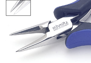 Snipe Nose Pliers 5.1/4'' straight, short and smooth jaws, microfine pointed tips 4217HS22