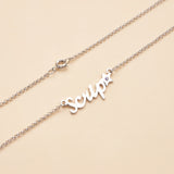 Star Personalized Name Necklace with Birthstone