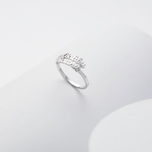 925 Silver Name Ring Two name