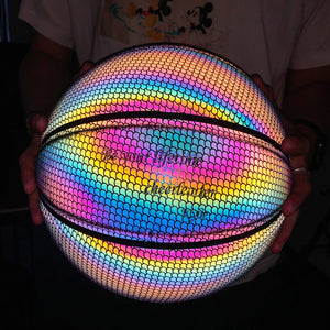 Personalized Words Glowing Reflective Basketball Size 7