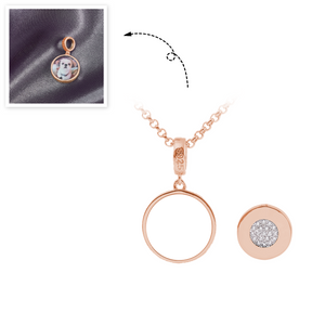 Engraved Round Tag Photo Necklace