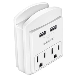 Socket Shelf - USB Wall Charger with 2 USB Charging Ports - VarietySell