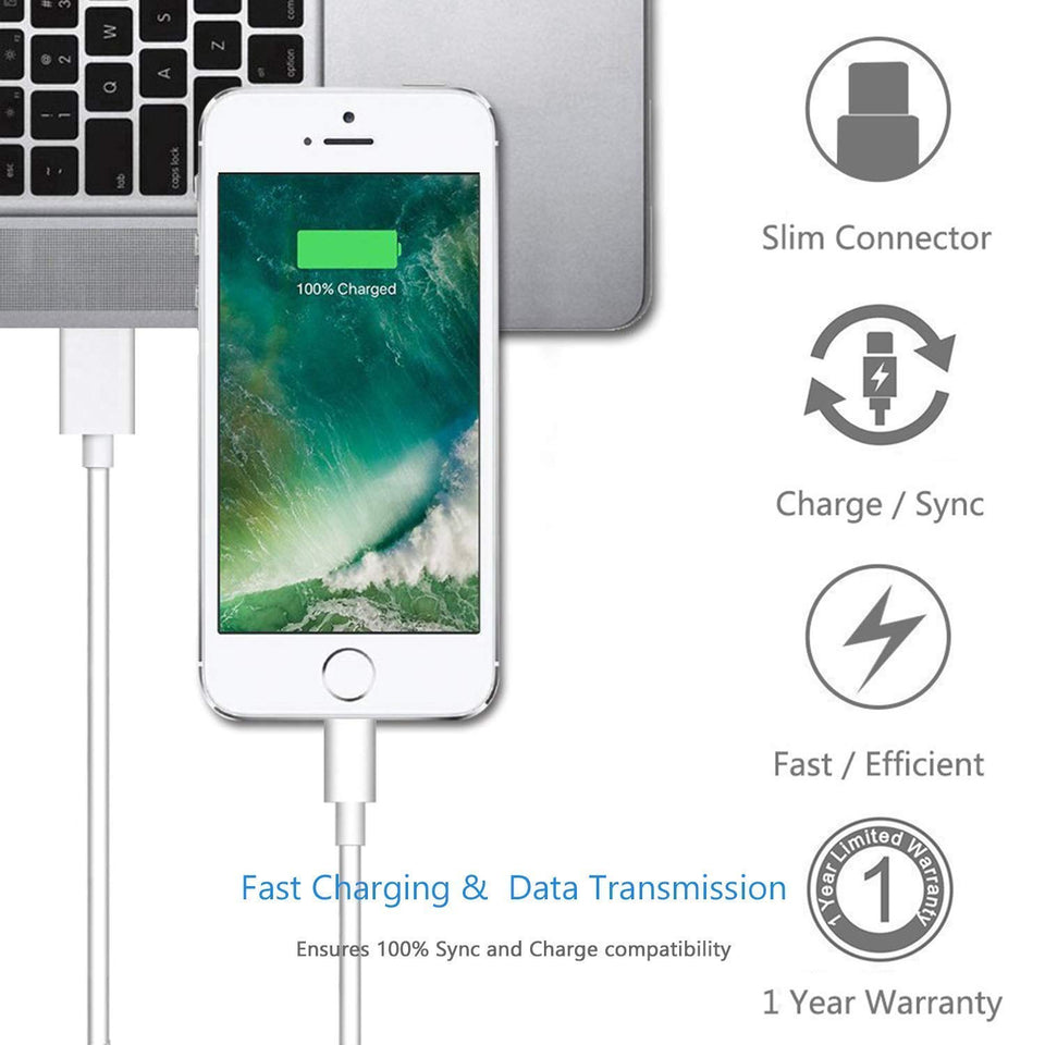 Apple MFi Certified Lightning Cable - 6ft - VarietySell