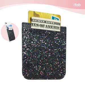 iFab Stick-On Credit Card Wallet Phone Case - Black - VarietySell