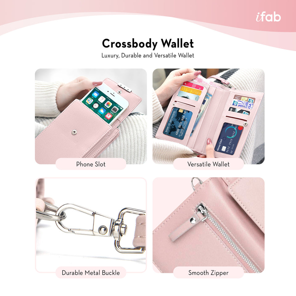 iFab Crossbody Purse Bag For Women Pink - VarietySell