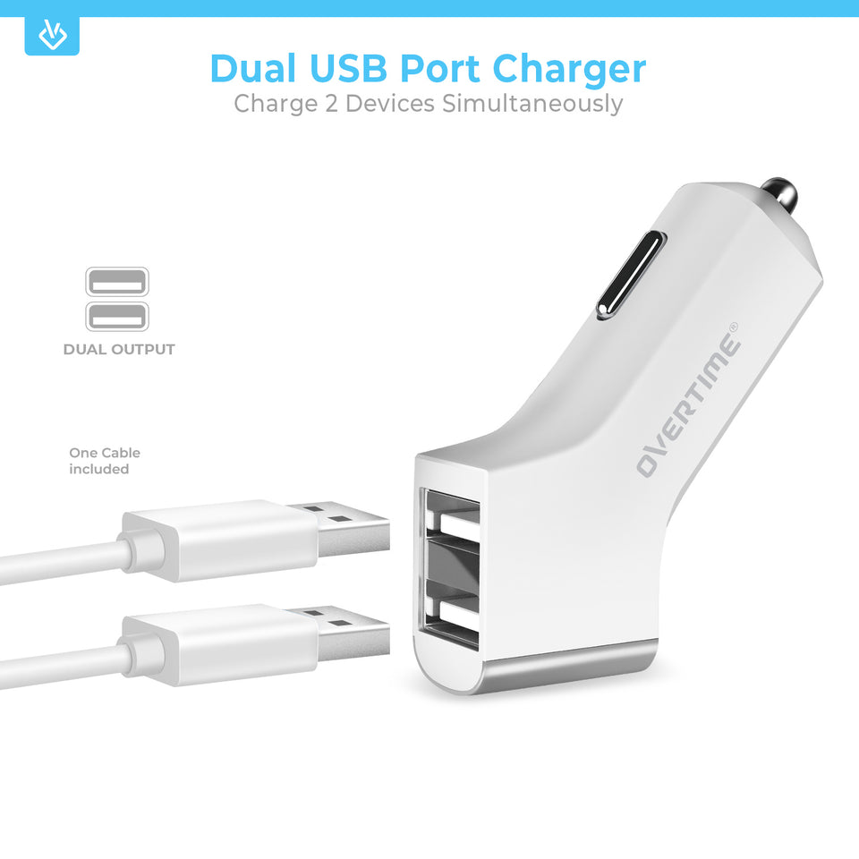 Apple MFI Certified USB Wall & Car Charger with Lightning Cable
