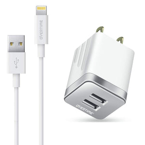 Dual USB Home Charger 2.4A With 4Ft Lightning Cable - VarietySell