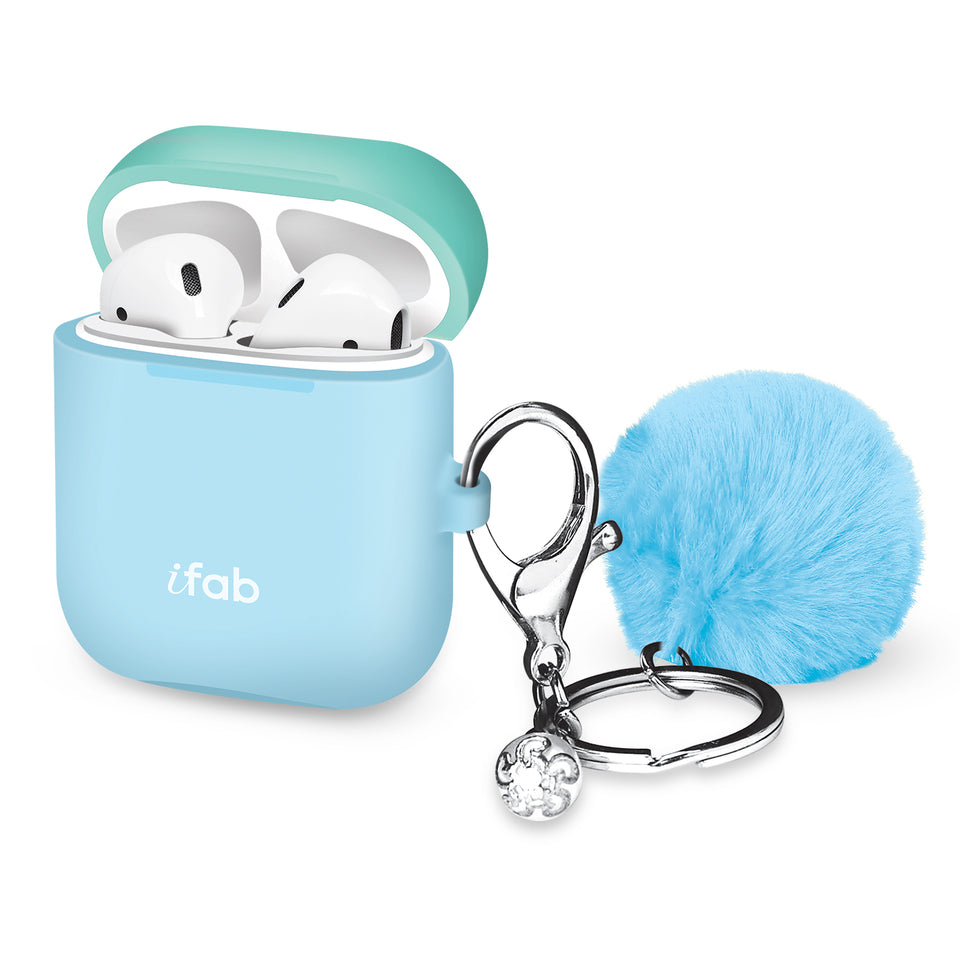 iFab Silicone Airpods Case Cover Blue - VarietySell