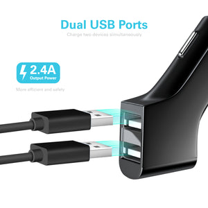 Dual USB 2.4A Car Charger Adapter - VarietySell