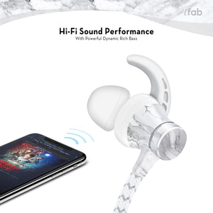 iFab Wireless Earbud with Carry Case - Marble - VarietySell