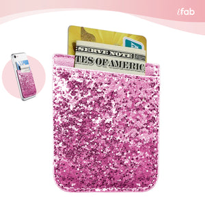 iFab Stick-On Credit Card Wallet Phone Case - Pink - VarietySell