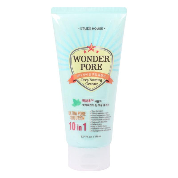 Etude house - Wonder Pore Deep Foaming Cleanser 170ml (10 in 1 Ultra Pore Solution)