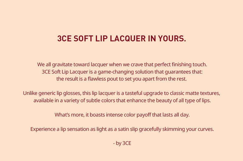 3 CONCEPT EYES - Soft Lip Lacquer