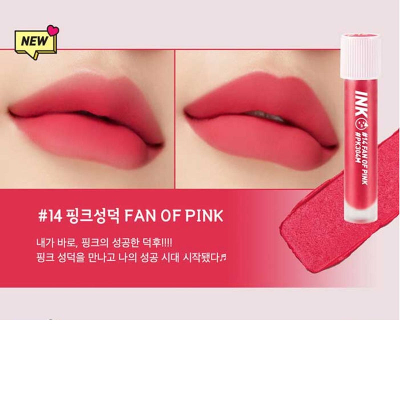Peripera - Ink Matte Blur Tint 014 Fan of Pink