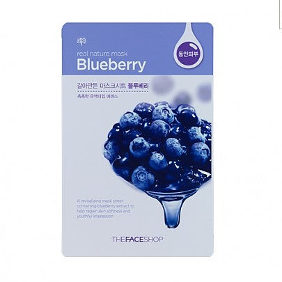 The face shop - Real Nature Mask (Blue Berry)