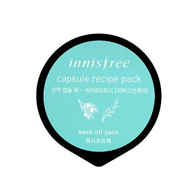 Innisfree - Capsule sleeping pack #Jeju bija & teatree 10ml