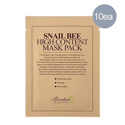 Benton - Snail Bee High Content Mask Pack 10ea