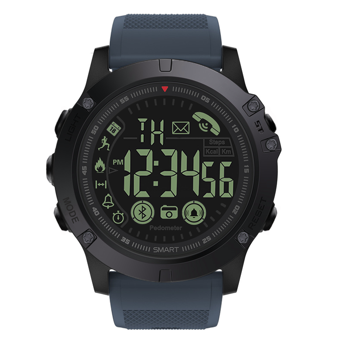 Spovan PR1 Smart Watch Estilo Militar Bluetooth Sumergible - Azul