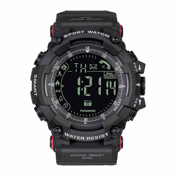 Spovan PR2 Smart Watch Estilo Militar Bluetooth Sumergible - Negro