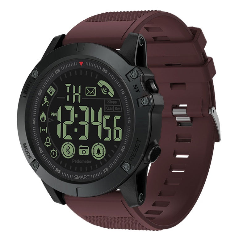 Spovan PR1 Smart Watch Estilo Militar Bluetooth Sumergible - Rojo