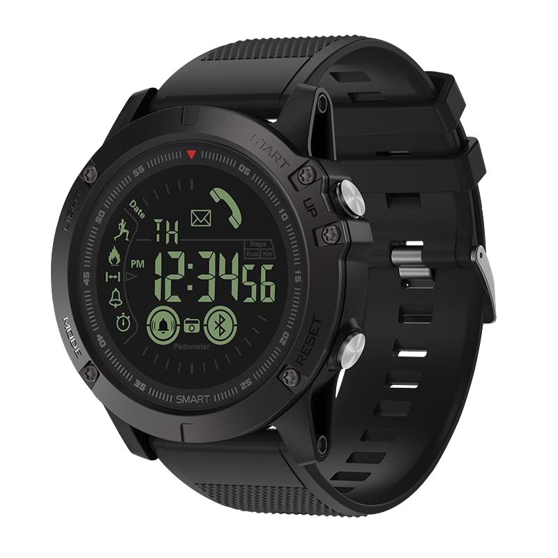 Spovan PR1 PRO Smart Watch Estilo Militar Bluetooth Sumergible - Negro
