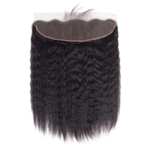 13x4  Lace Closure 100% Raw Human Hair- Kinky Straight