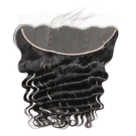 13x4 Transparent Lace Frontal: Deep Wave