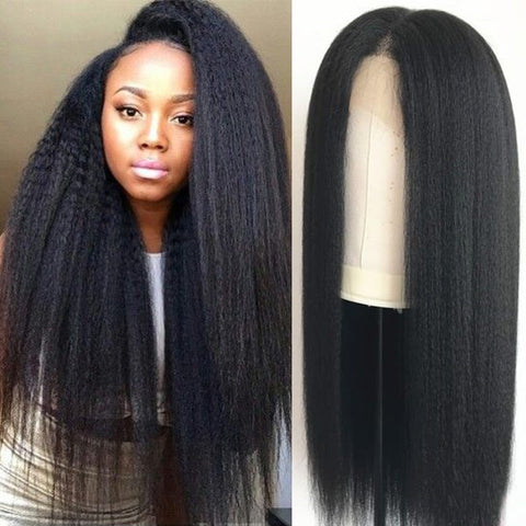 13x6 Lace Front Wig Kinky Straight 180%