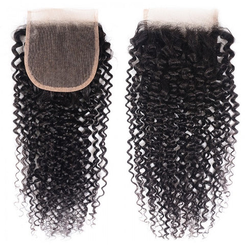 4x4 SWISS LACE  Closure: Kinky Curl